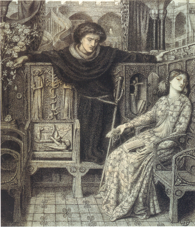 Hamlet and Ophelia: Dante Gabriel Rossetti