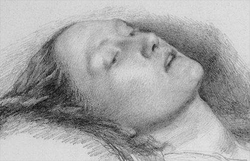 Hamlet Ophelia Drawing Millais Study of Ophelia